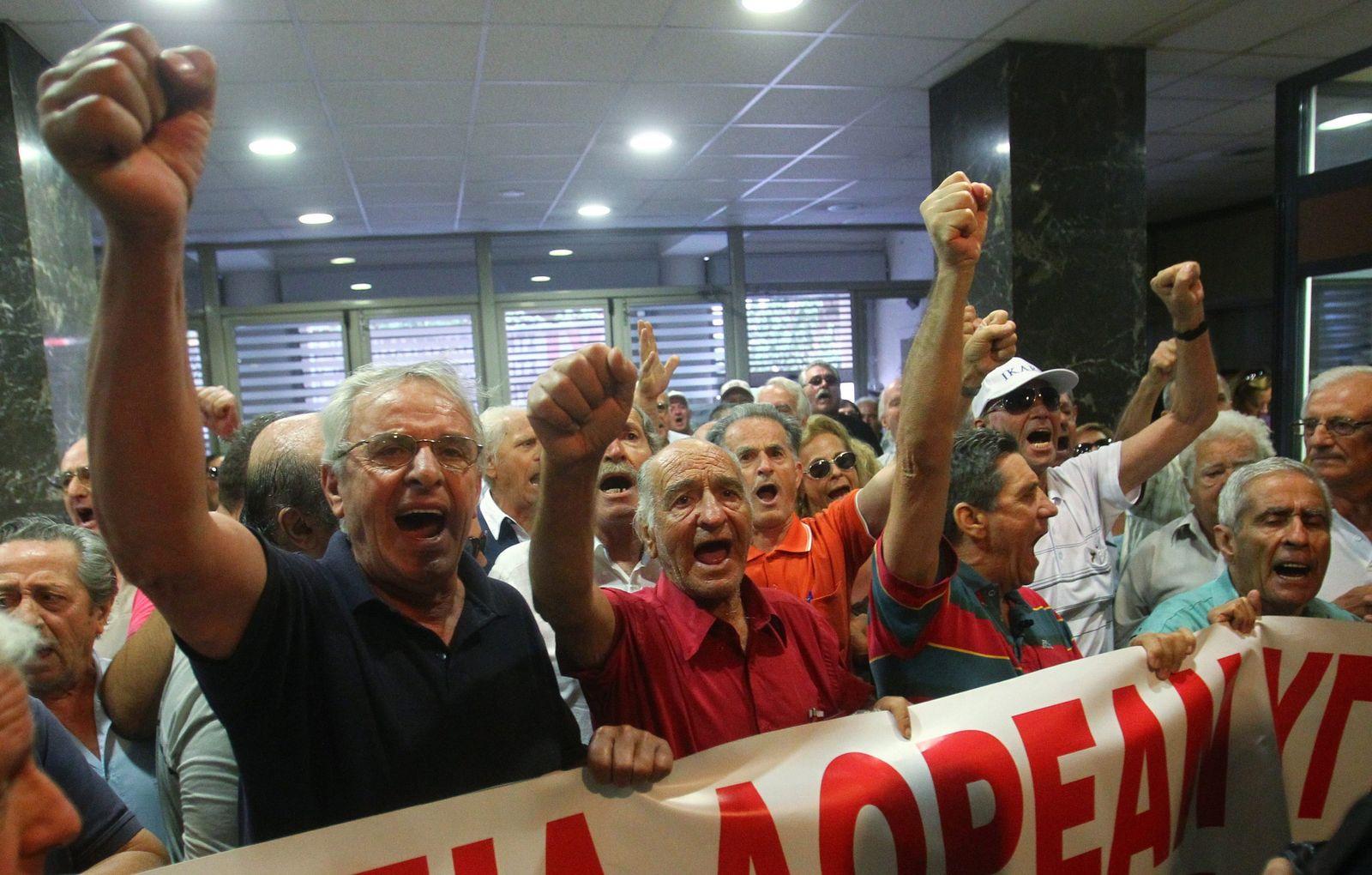 Griechenland/ Gesundheitsministerium/ Protest