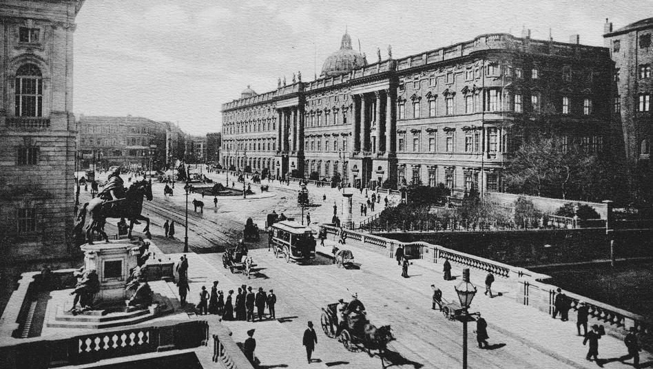 Stadtschloss und Kurfürstenbrücke in Berlin (ca. 1899)