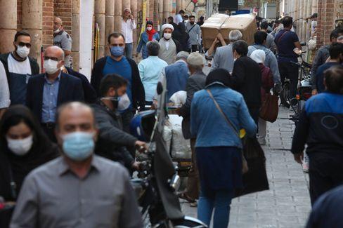 Szene in Irans Hauptstadt Teheran (Foto vom 5. November): Landesweit mindestens 42.000 Tote im Zusammenhang mit Covid-19