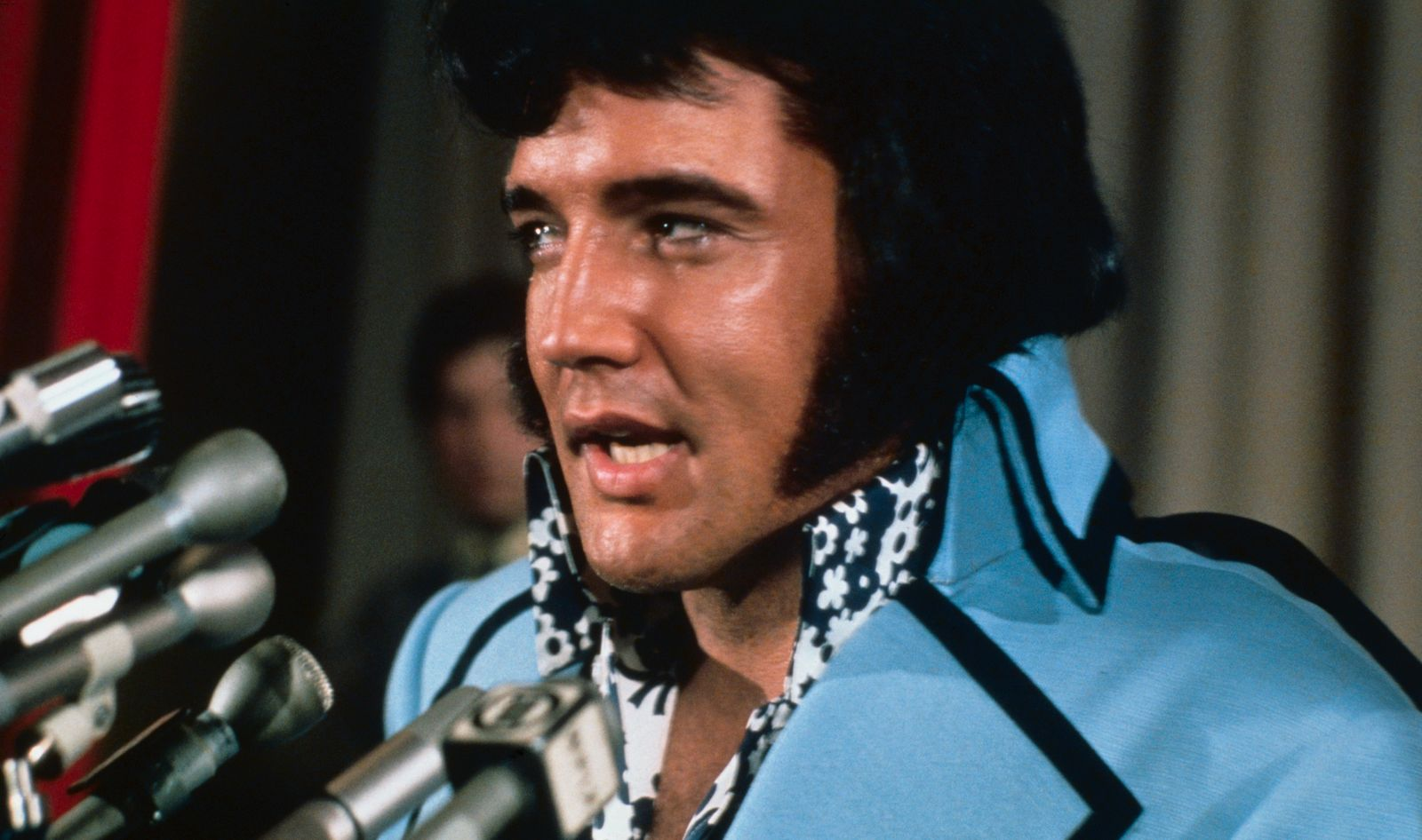 Elvis Presley Speaking at News Conference