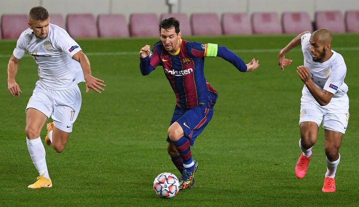 Lionel Messi erzielte bei der 1:5-Niederlage gegen Barcelona das Führungstor der Katalanen