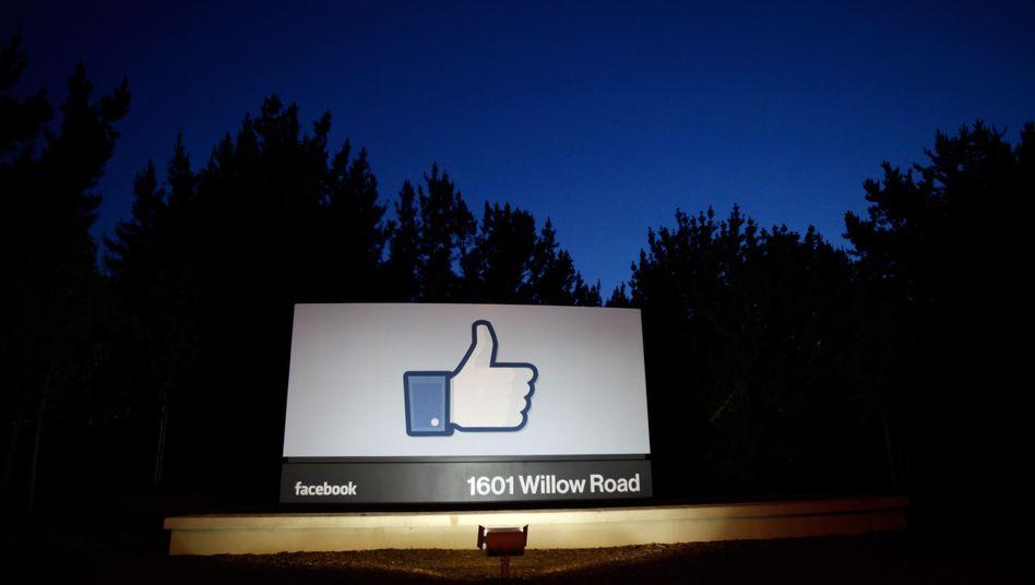 Facebook-Logo: Das Symbol der Zustimmung beschäftigt die US-Justiz