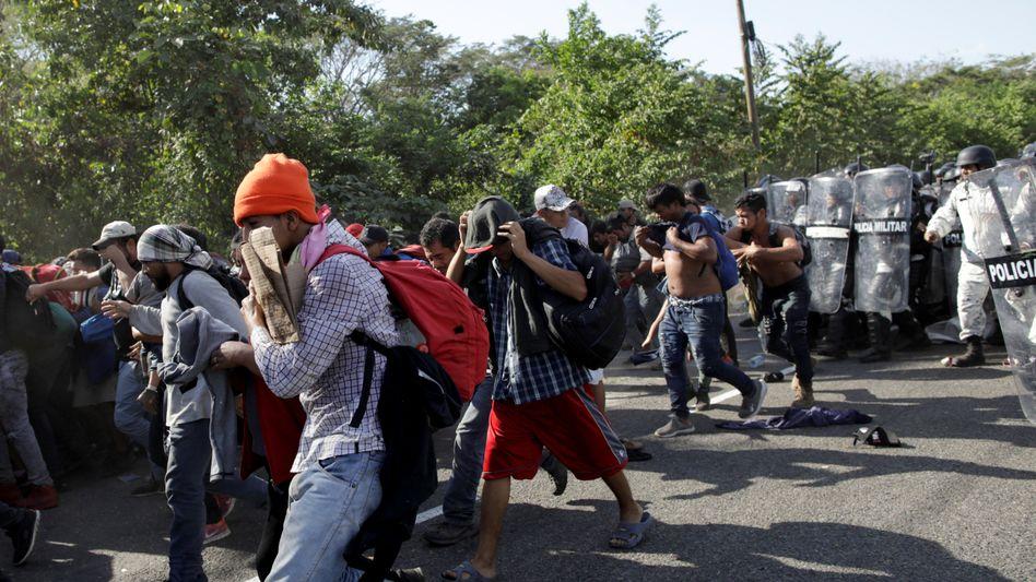 Die meisten Migranten wurden festgenommen, einige wenige tauchten inMexikounter
