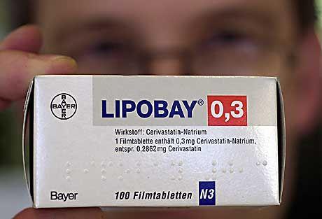 Wird mit rund hundert Todesfällen in Verbindung gebracht: Bayer-Präparat Lipobay