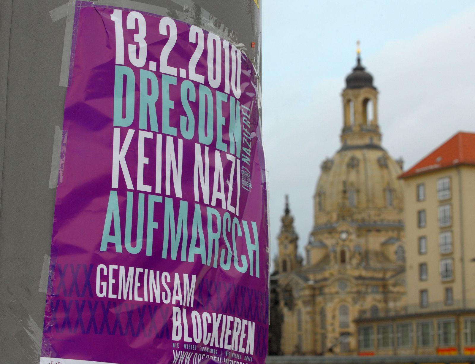Nazi-Aufmarsch Dresden