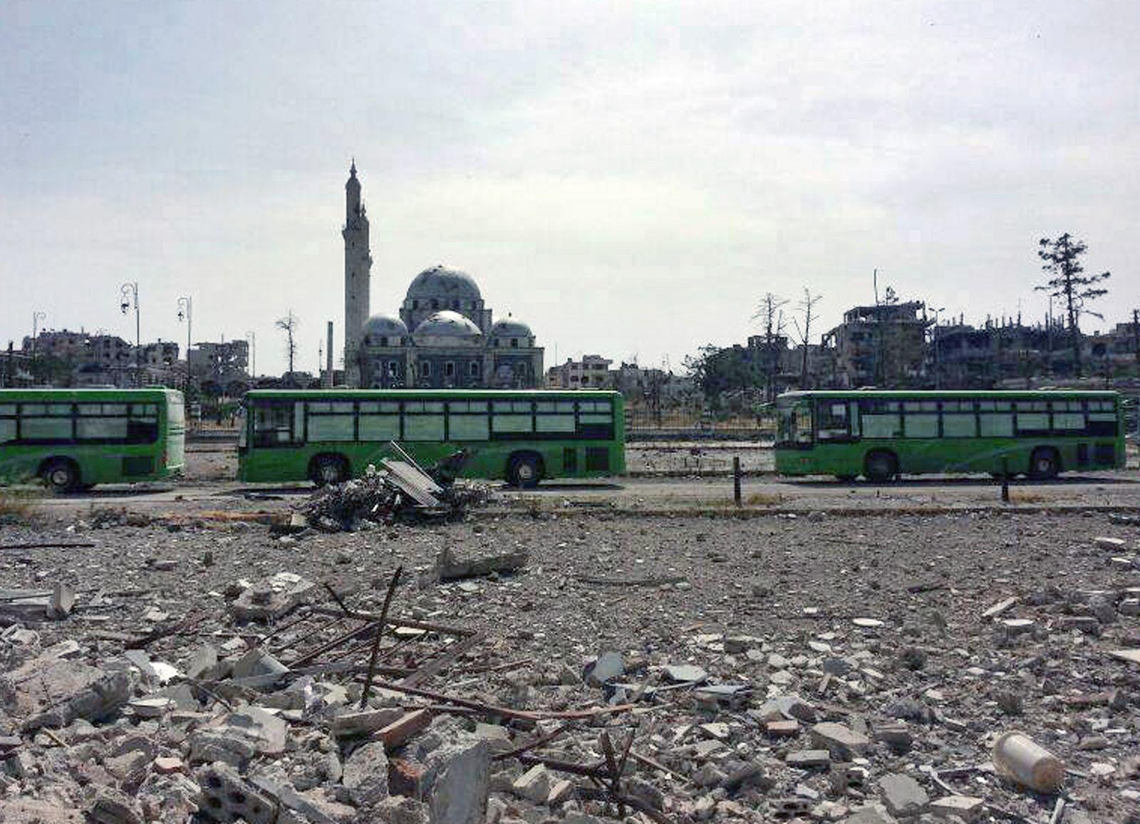 Homs/ Abzug von Rebellen