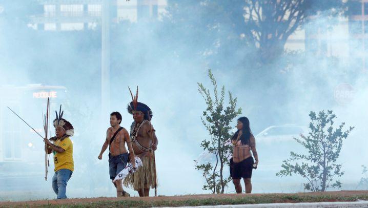 Demo gegen Fußball-WM: Protest in Brasília