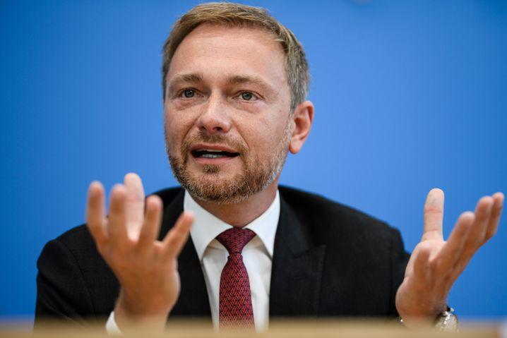 Lindner in der Bundespressekonferenz