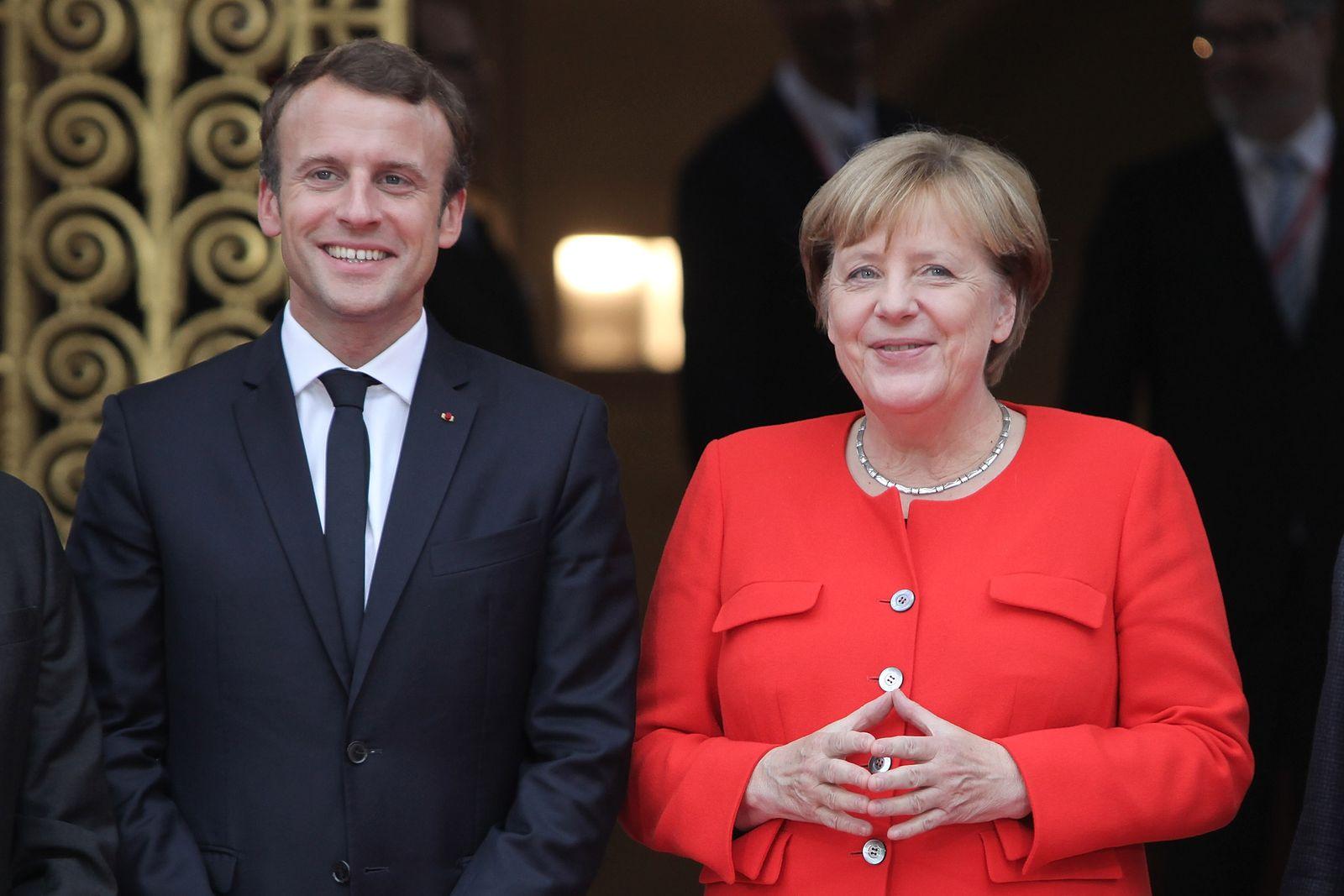 Angela Merkel / Emmanuel Macron / Buchmesse Frankfurt