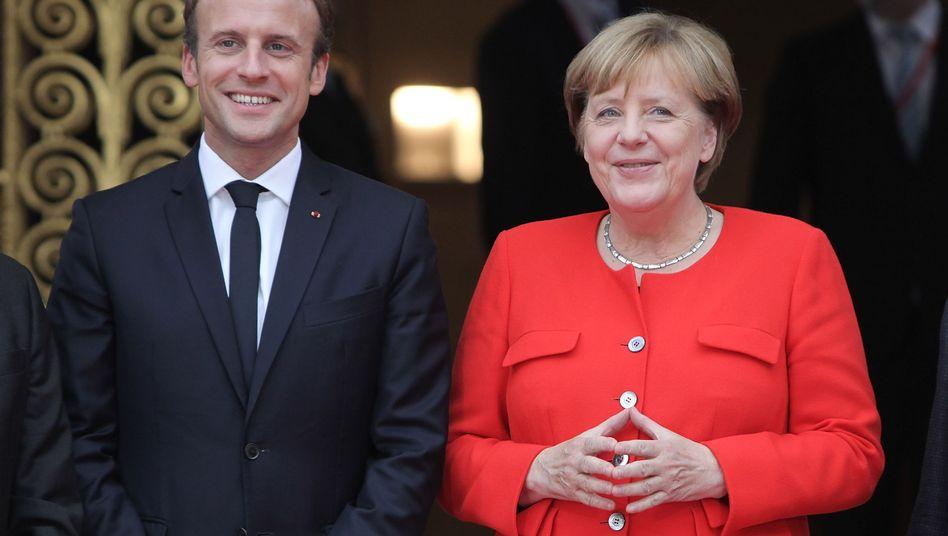 Pro-Europäer Macron, Merkel