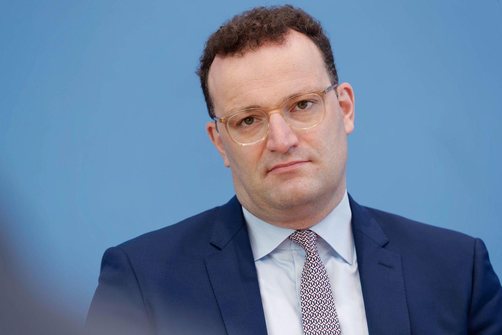 Jens Spahn 2020-07-13, Berlin, Deutschland - Bundespressekonferenz. Jens Spahn (CDU), Bundesgesundheitsminister, der Pr