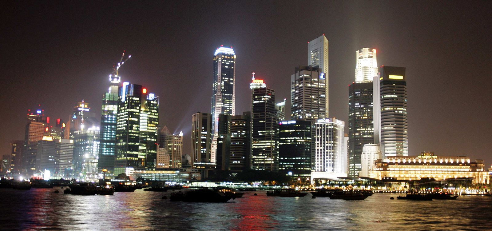 Singapur / Skyline / Nacht