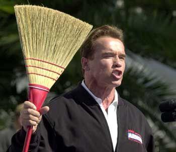 Will in Kalifornien aufräumen: Wahlsieger Schwarzenegger