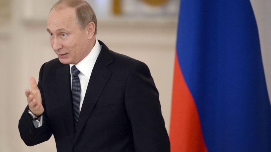Putin im Moskau (Archiv): Missliebige Umtriebe verboten