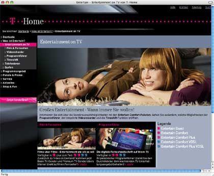 Telekom-Angebot T-Home: Sollte als erster IPTV-Dienst in Deutschland noch 2007 sechsstellige Kundenzahlen erreichen. Das Ziel gilt in der Branche längst als Science Fiction