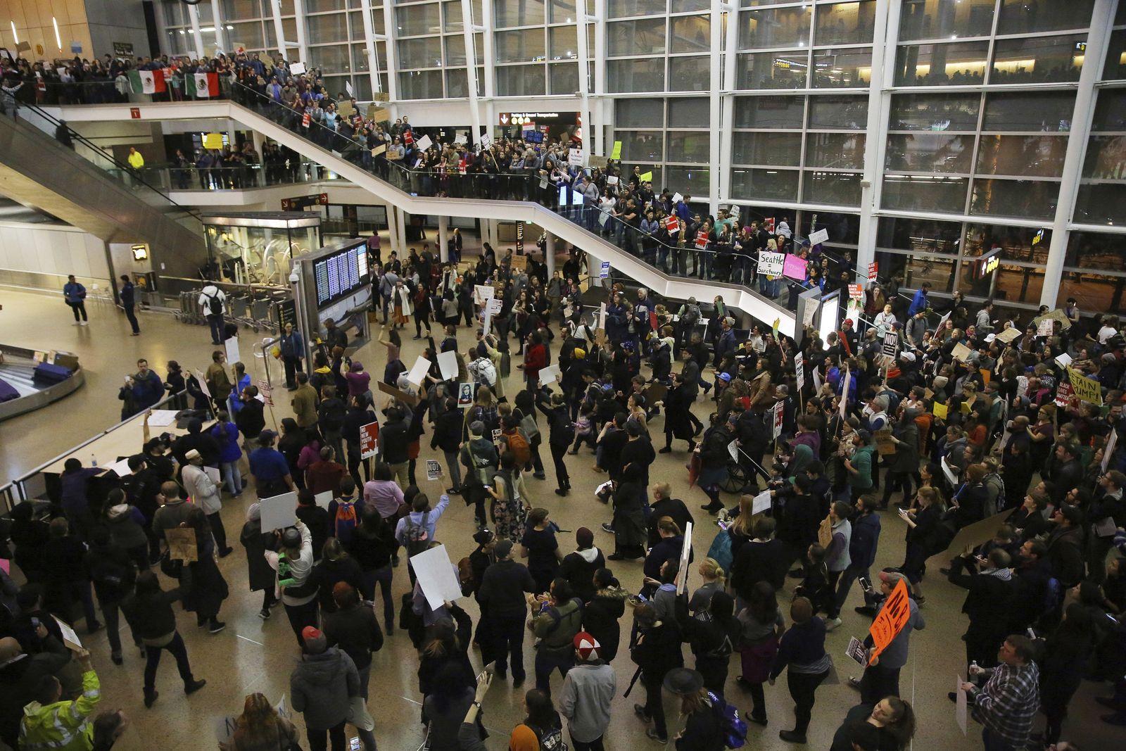 Proteste US-Flughäfen