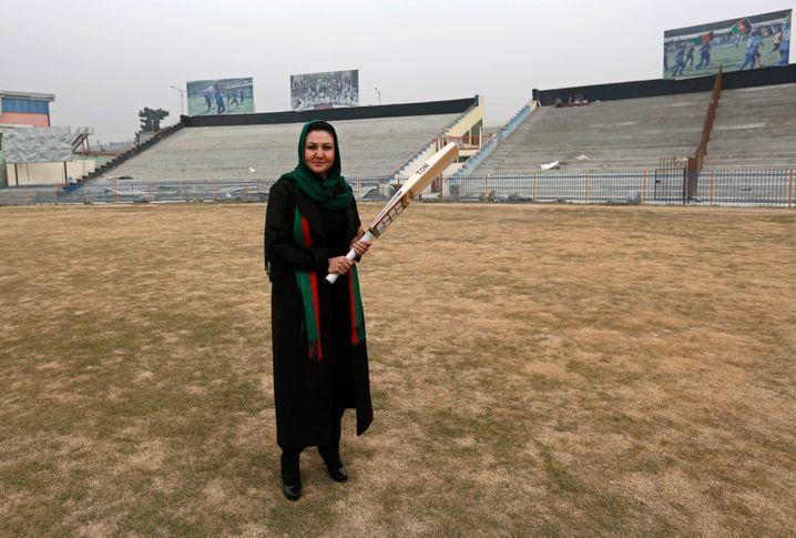 Diana Barakzai, Gründerin und erste Trainerin der Nationalmannschaft der Frauen, im Jahr 2014