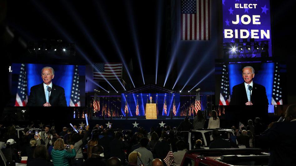 "Wahlsieger Biden: ""Präsident aller Amerikaner"""