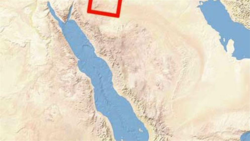 Satellitenbild der Woche: Nasser Wüstensand