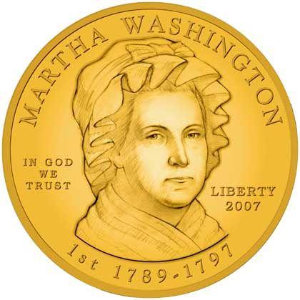 Sammlerstück aus Gold: Martha Washington auf einer Zehn-Dollar-Münze