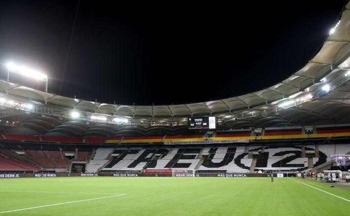 Die Fan-Choreografie in Stuttgart