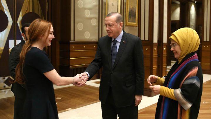 Besuch in Ankara: Lohan bei Erdogan