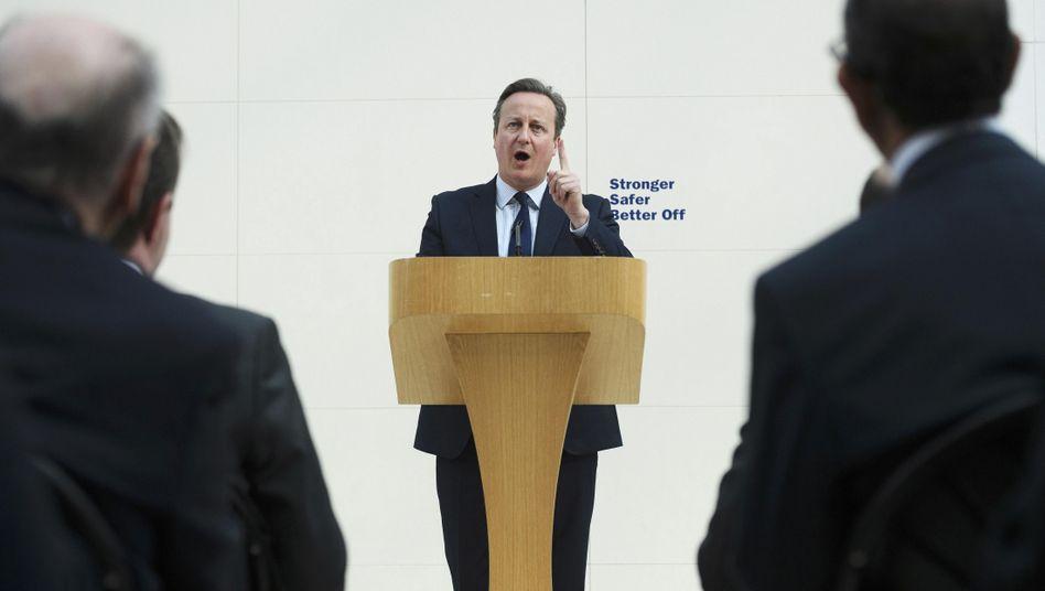 David Cameron während seiner Rede