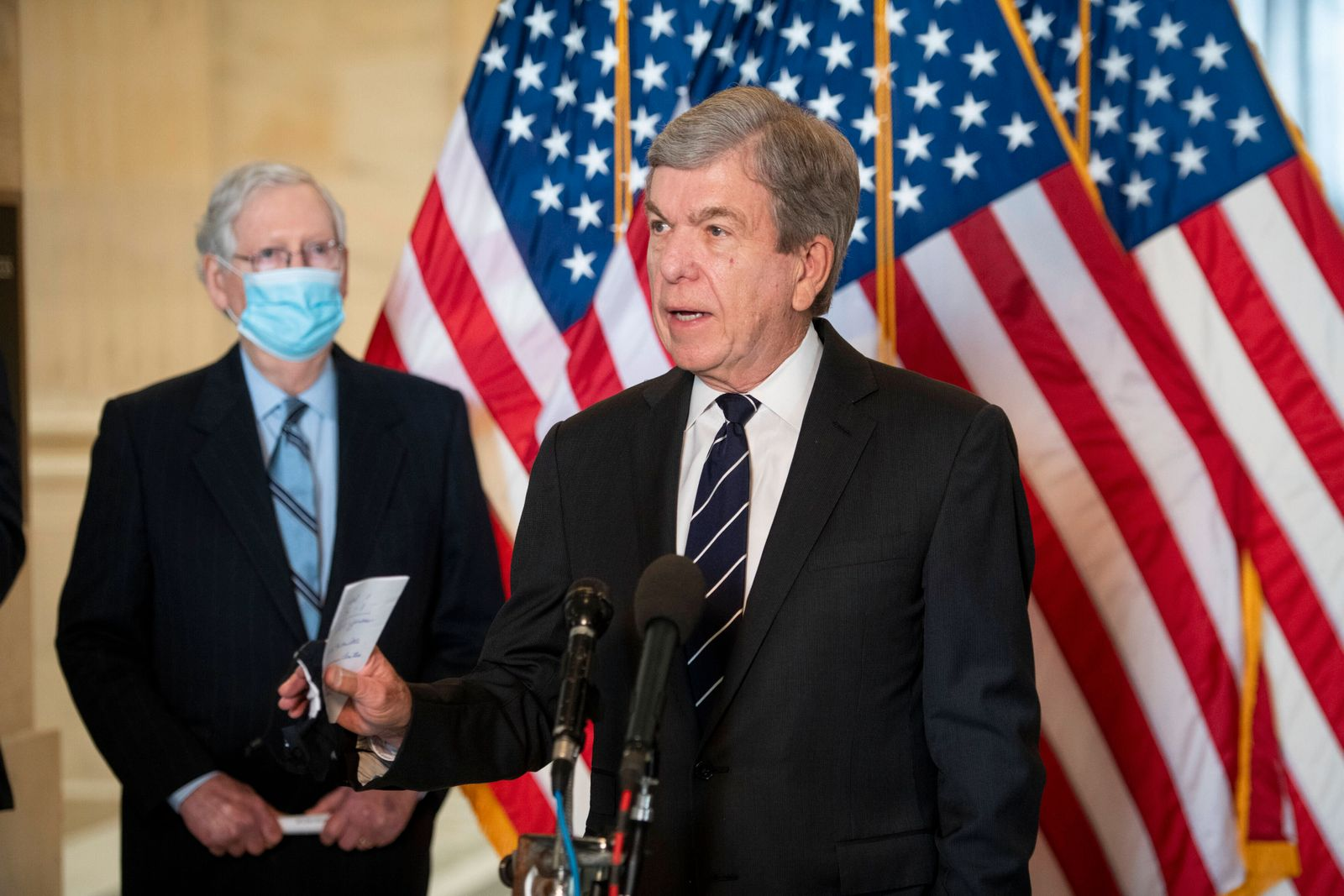 March 23, 2021, Washington, District of Columbia, USA: United States Senator Roy Blunt (Republican of Missouri) offers r