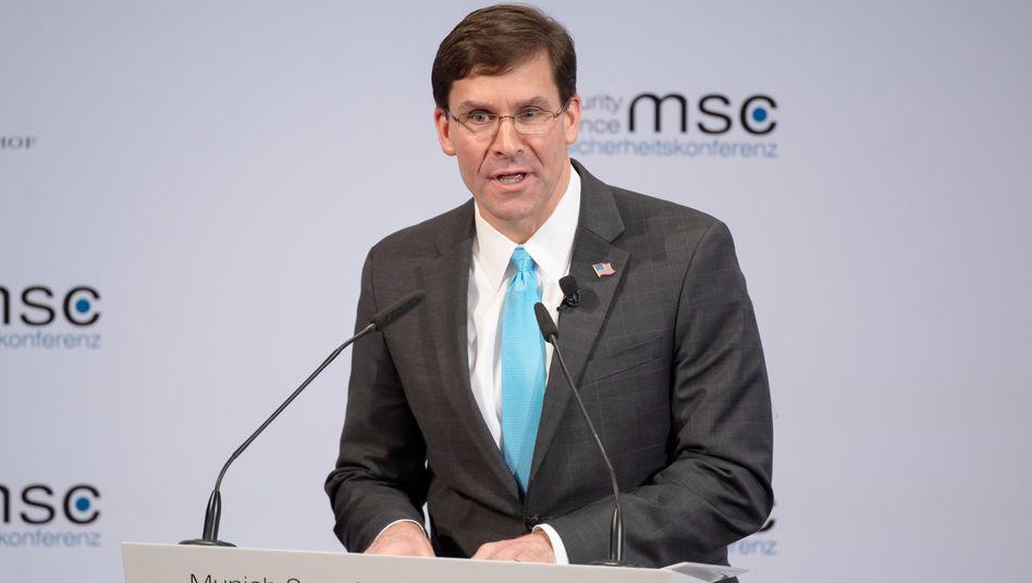 Mark Esper, Verteidigungsminister der USA, auf der Münchner Sicherheitskonferenz