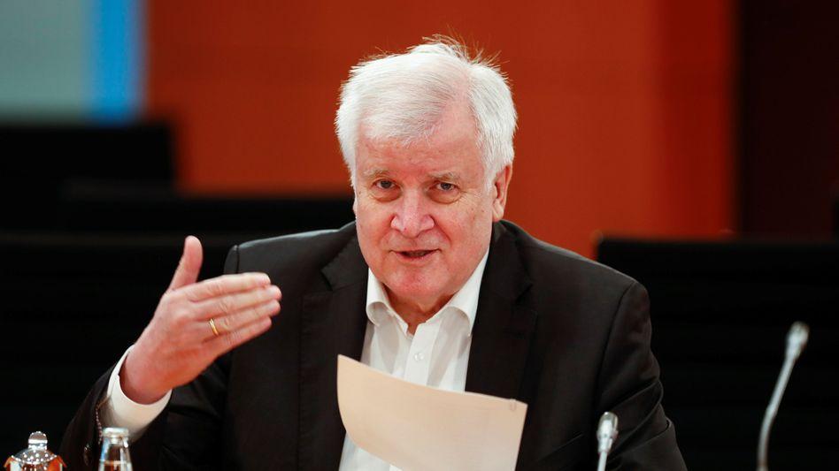 Horst Seehofer am Mittwoch im Kabinett