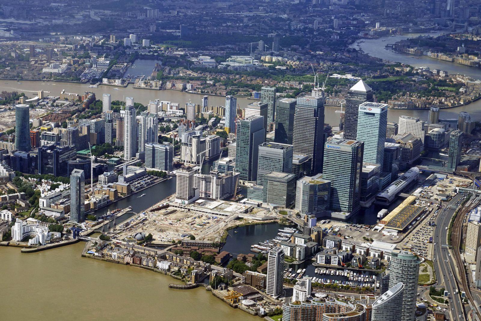 London Banken / Konjunktur / Banken-Viertel / Wirtschaft / England