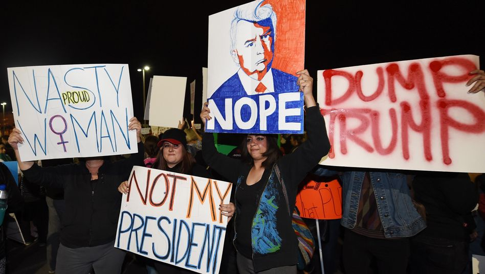 Anti-Trump-Demonstranten in Las Vegas (am 12. November)