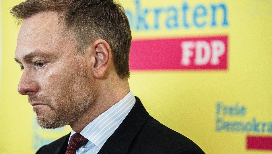 """Vorsitzender Lindner:""""Ich fahre jetzt nach Erfurt, und wenn ich zurückfahre, gibt es mindestens einen Rücktritt"""""""