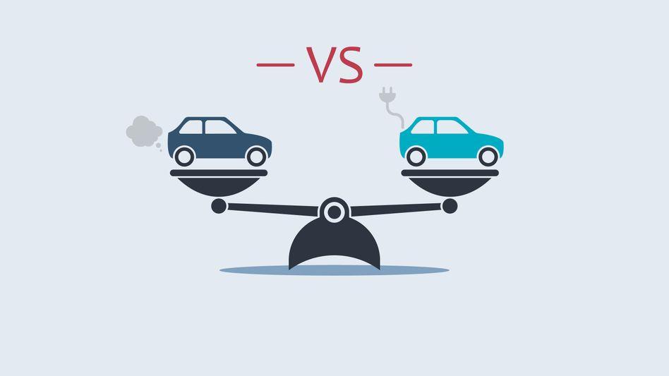 Verbrenner oder Elektroauto: Wer stößt mehr CO₂ aus? Dieser Frage geht eine neue Studie nach - mit einer überraschend eindeutigen Antwort