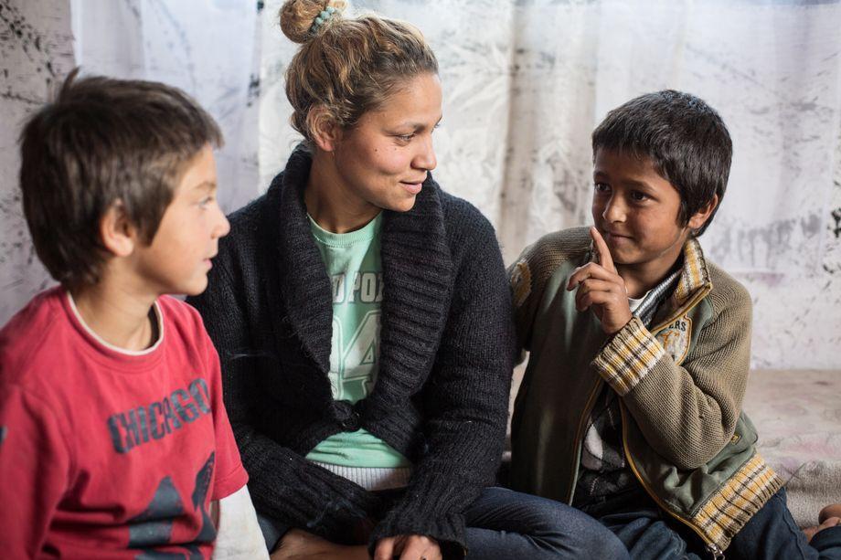 Ali (rechts) mit Kiza und Ismet
