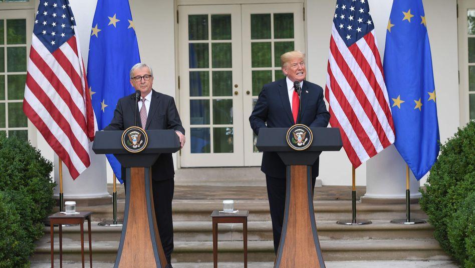 Jean-Claude Juncker und Donald Trump