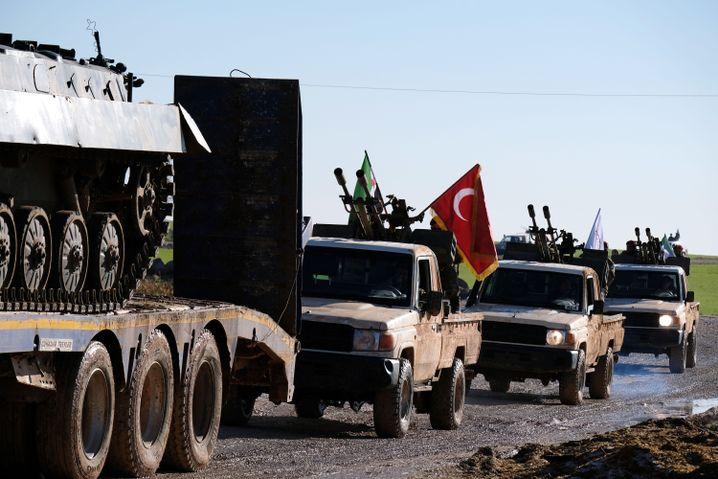 Türkische Armee im Norden Syriens Ende Dezember