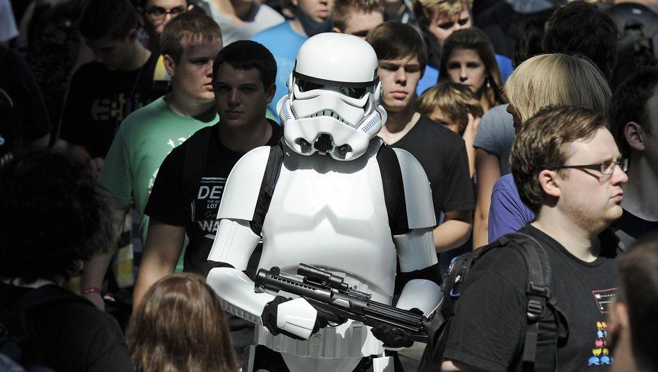 """Gamescom-Besucher, Mann im """"Star Wars""""-Kostüm: Zu viele Gäste"""