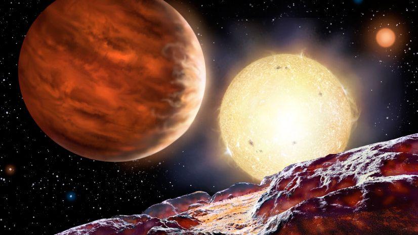 """""""WASP-142b"""" (künstlerische Darstellung): Der entdeckte Planet ist so groß wie der Jupiter"""