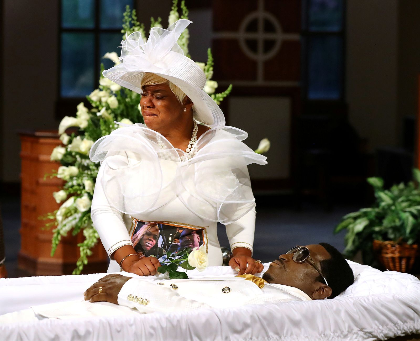 The body of Rayshard Brooks, who was shot dead by an Atlanta police officer, is viewed by mourners at Ebenezer Baptist Church in Atlanta