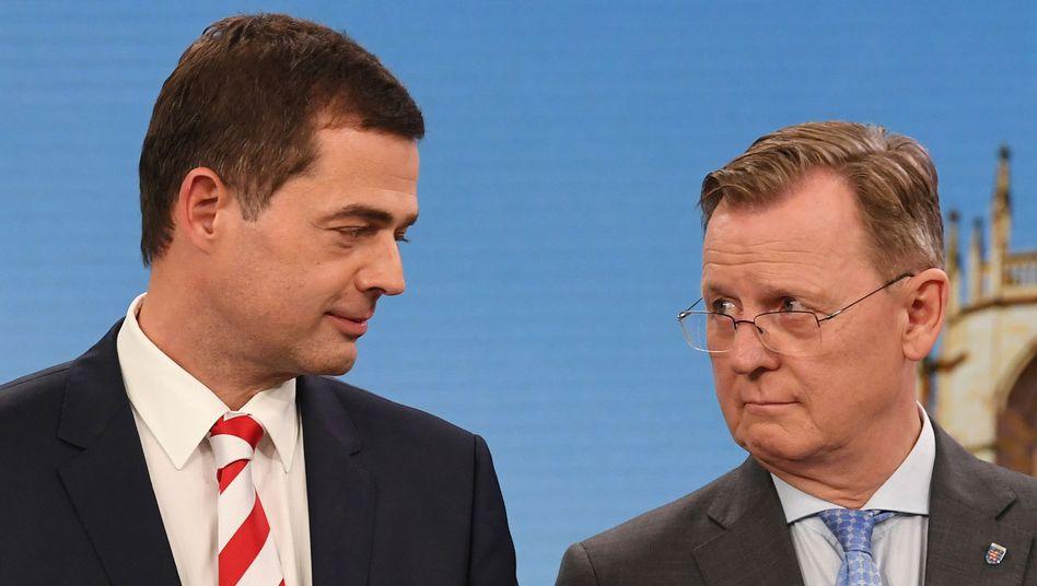 CDU-Kandidat Mohring, Ministerpräsident Ramelow: Das unwahrscheinliche Bündnis könnte sich ein paar sehr konkrete Ziele setzen