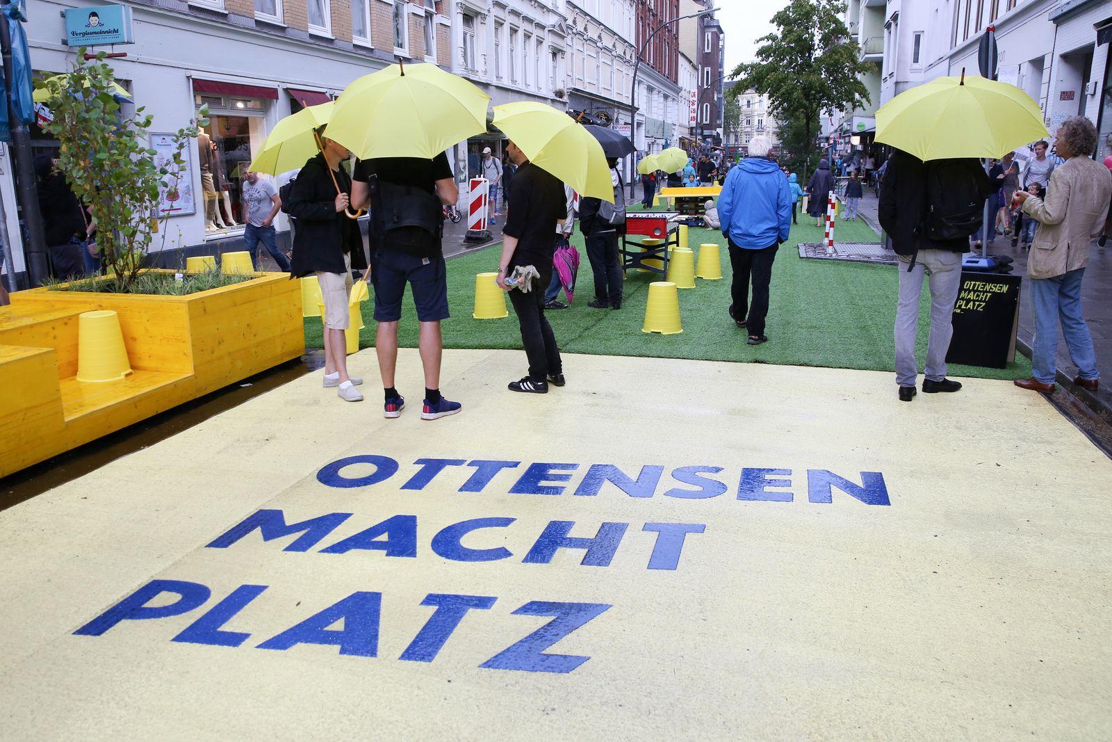 Teile des Hamburger Stadtteils Ottensen sind temporär autofrei