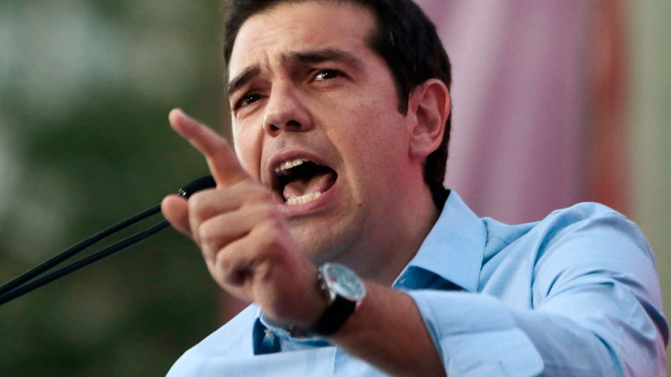 At odds with one of Germany's leading newspapers: Greece's left-wing opposition leader Alexis Tsipras.