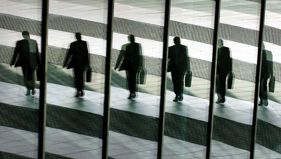 Manager auf dem Weg ins Büro