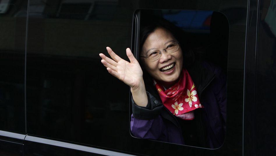 Taiwans designierte Präsidentin Tsai Ing-wen