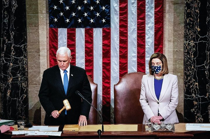 The decision: Vice President Mike Pence certified the Electoral College votes in the presence of Democrat Nancy Pelosi, thus making Joe Biden's win official.