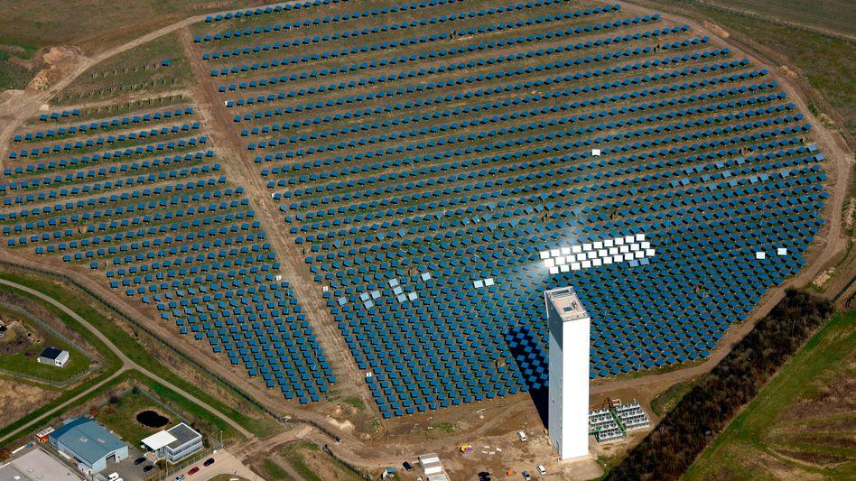 A solar power plant in Jülich in western Germany. Germany's energy fund has fallen short of its targets.