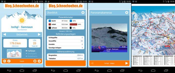 Schneehohen In Den Alpen Die Besten Apps Fur Den Winter Der Spiegel