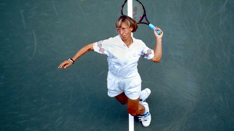 In der Tschechoslowakei geboren, US-Bürgerin und seit 2008 auch tschechische Staatsbürgerin: Tennis-Ikone Martina Navratilova könnte in Zukunft Navratil heißen