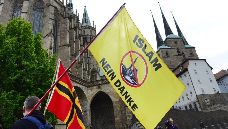 AfD-Demonstranten in Erfurt